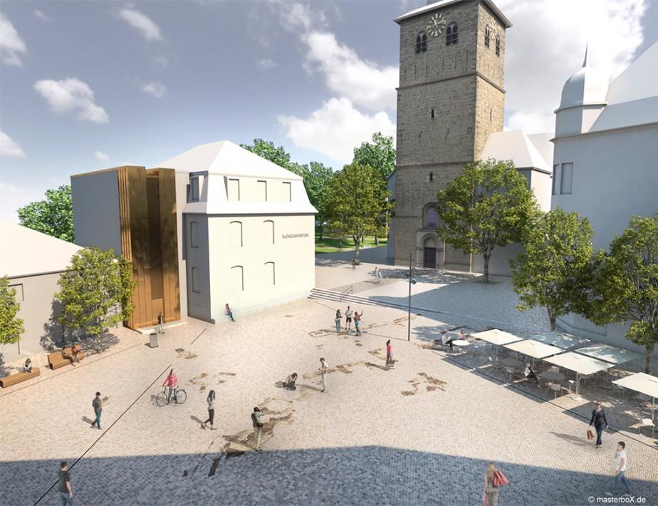 Gartenlabor Landschaftsarchitektur | Platzgestaltung Recklinghausen | 2014 | 1. Preis